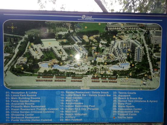 Map of hotel Picture of Limak Limra Hotel Resort Kemer