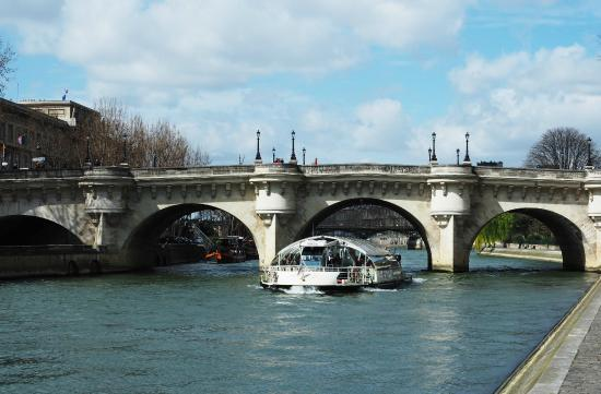 Paris, France: Cruise boat on the Seine