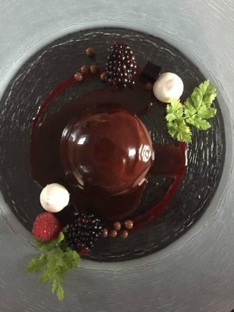 Blasingsborgs Gardshotell: Blåbärsglass med choklad