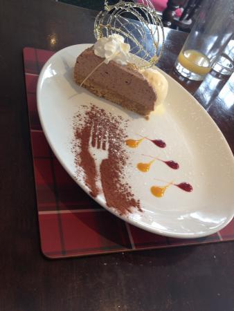 Port William, UK: Baileys and white chocolate cheesecake