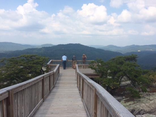 McCloud Mountain Lodge: Skywalk over Chimney Tops