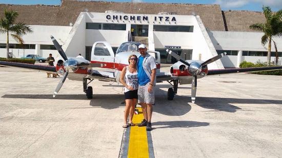 Chichen itza By Airplane