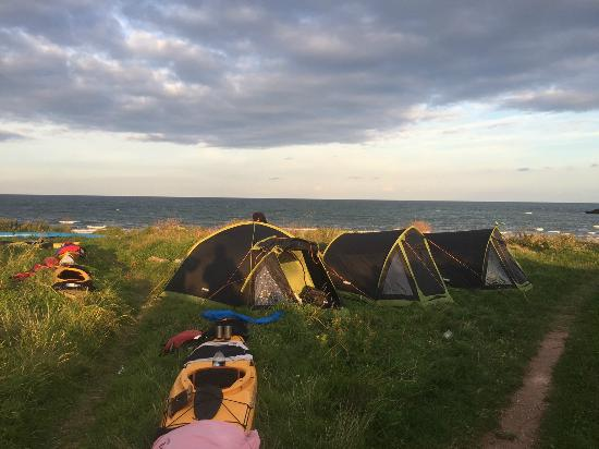 Wild camping spot set behind beautiful beach - Picture of ...