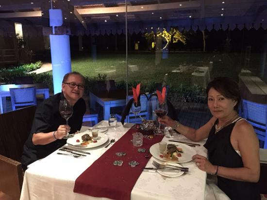 Club Med Cherating Beach: Romantic evening at the Rembulan Restaurant