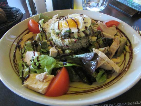 La salade poulet taboulé avocat photo de au bureau boulazac