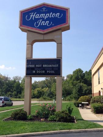Hampton Inn Columbus-East: Easy to find. Right behind Cracker Barrel b