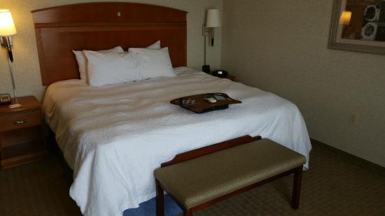 Hampton Inn Santa Rosa : Best part of my stay...the king bed.