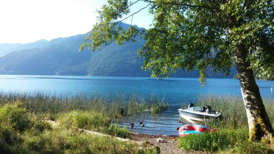 Lake Crescent - From our door at an A-frame chalet ...