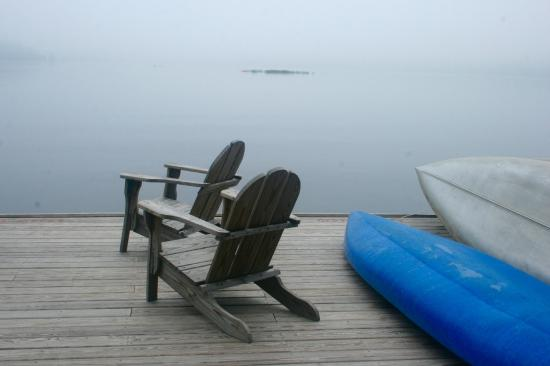 The Waldheim: dock view in morning fog