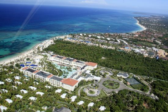 Iberostar Grand Bavaro: Aerial view of property from helicopter tour