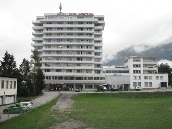Eden Montana: nur in den Stockwerken 7 bis 10 sind die Hotelzimmer