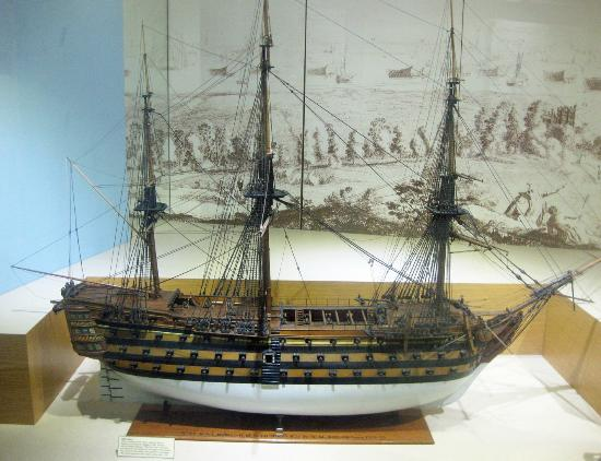 Guildhall Museum: Model of HMS Victory