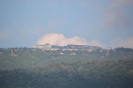 Snowshoe in the Clouds as Viewed from Slatyfork, WV