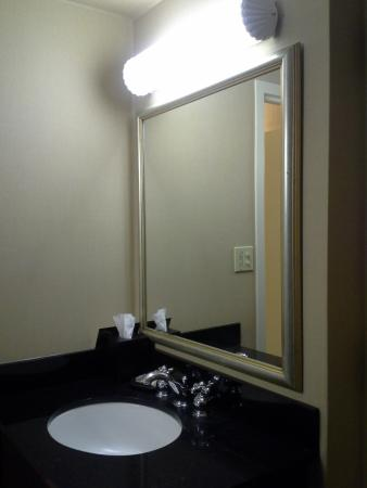 Sheraton Sand Key Resort: Bathroom Vanity   Needs A Non Fluorescent  Lighting Fixture