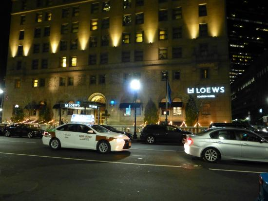 hotel at night picture of loews boston hotel boston. Black Bedroom Furniture Sets. Home Design Ideas