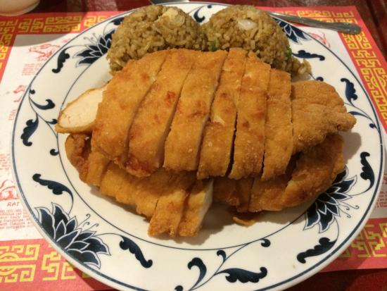 Lemon Chicken With Fried Rice Picture Of Pengs Chinese Restaurant
