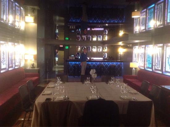 Popover and glass of prosecco picture of blt steak miami for Best private dining rooms miami
