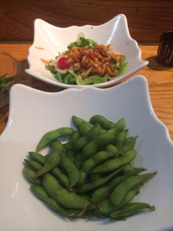 KOTO Japanese: Edamame is yummy and the spicy octopus