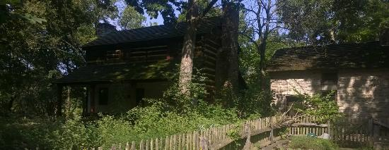 Heritage Village Museum: 1804 log cabin and summer kitchen