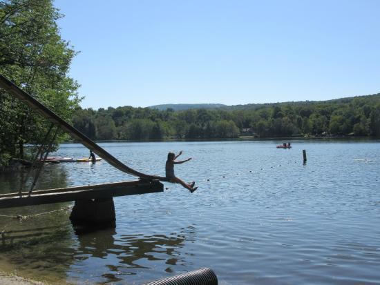 Prospect Lake Park: the slide