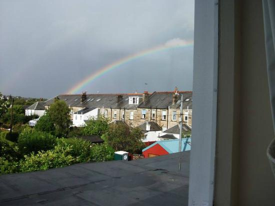View from my Redhurst Hotel window after an afternoon rain shower