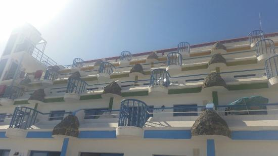 Aquasol Apartments : View from sunlounger, sample of tapas.