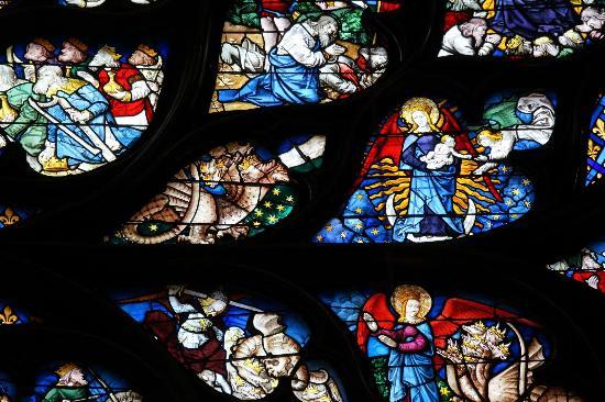 Paris, Frankrike: Rose window detail