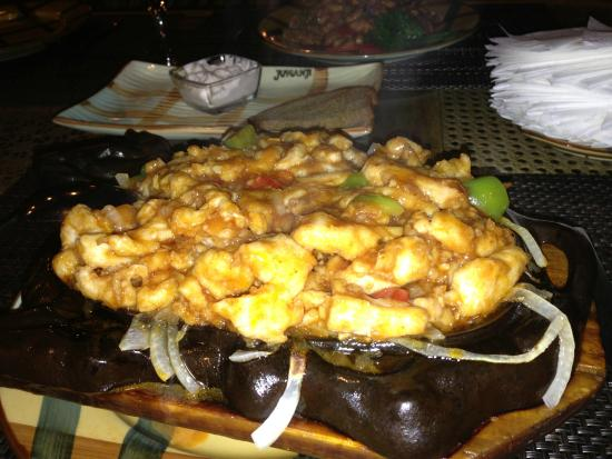Restaurant Jumanji: spicy chicken hot plate