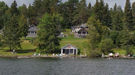 Hunter Cove Cabins on Rangeley Lake: View of Hunter Cove from the lake