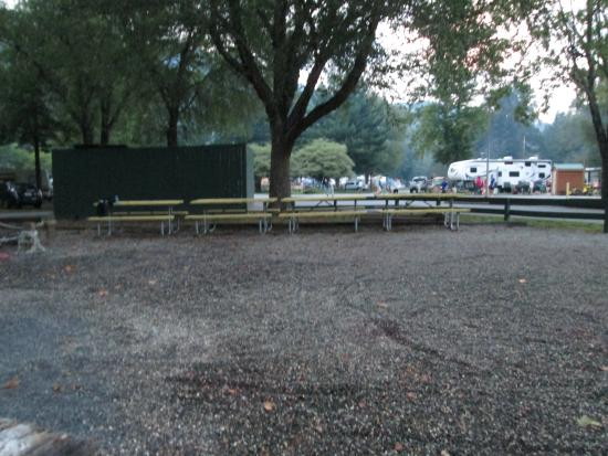 Cherokee / Great Smokies KOA: Common area next to Site #1