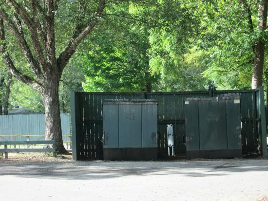 Cherokee / Great Smokies KOA: The Dumpsters next to the Common Area near Site #1
