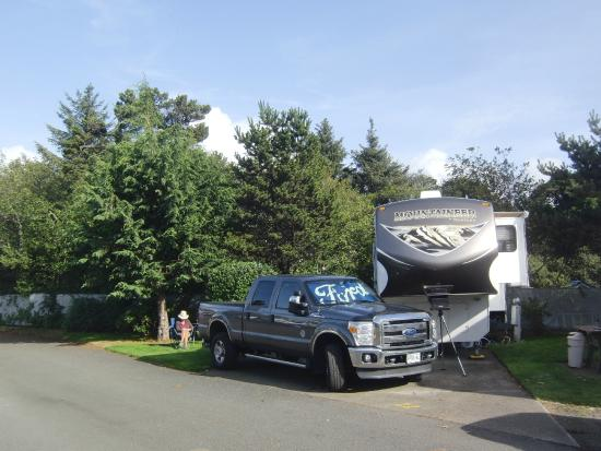 Premier RV Resort of Lincoln City Oregon: Site 22 (not best value)
