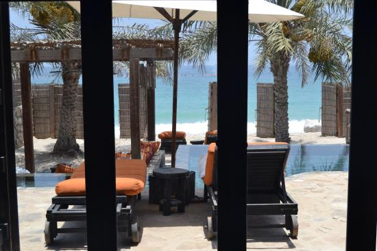 Six Senses Zighy Bay: view from pool villa suite