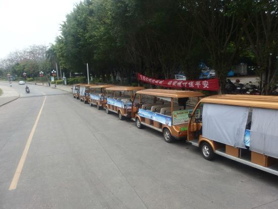 Chaozhou Binjiang Gallery: 電瓶車遊江