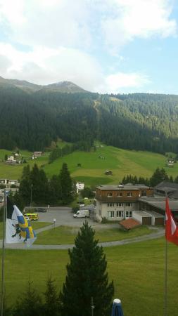 Chalet-Hotel Larix: La vista dal terrazzino