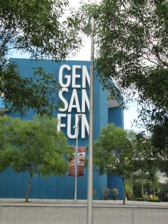 SM City General Santos: sign at the mall's side