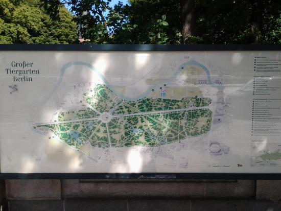 Tiergarten: Übersichtsplan