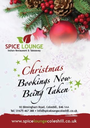 Spice Lounge Indian Restaurant Coleshill Birmingham