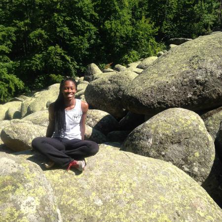 Vitosha Mountain: Me on one of the huge rocks of the Golden Bridges