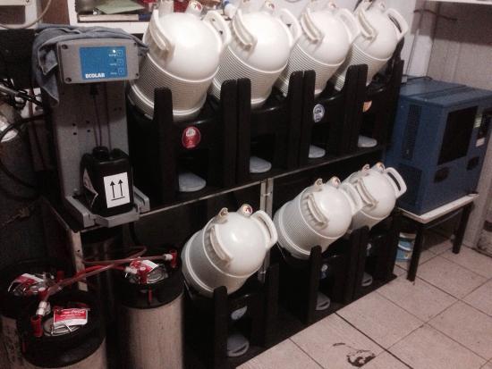 Ristorante Pizzeria Cocoon: Birra alla spina ....Impianto senza gas co2
