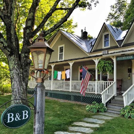 """West Hill House B&B: Main House with """"racing jerseys"""" up to celebrate the local bike race"""