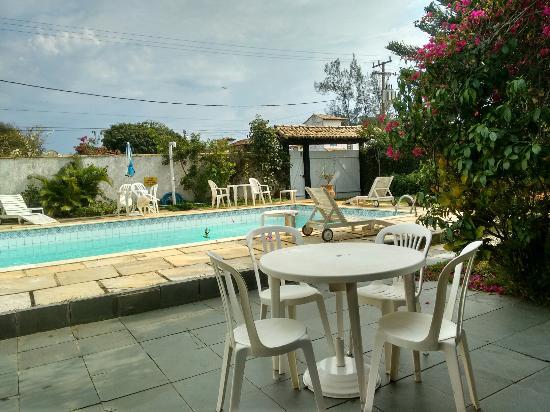 Pousada das Amoras: Vista para piscina!