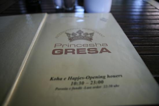 Princessa Gresa Restaurant: 메뉴