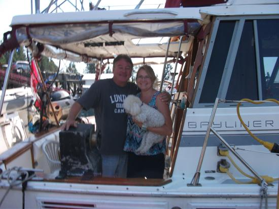 Pristine Charters: Our genial hosts and the Captain
