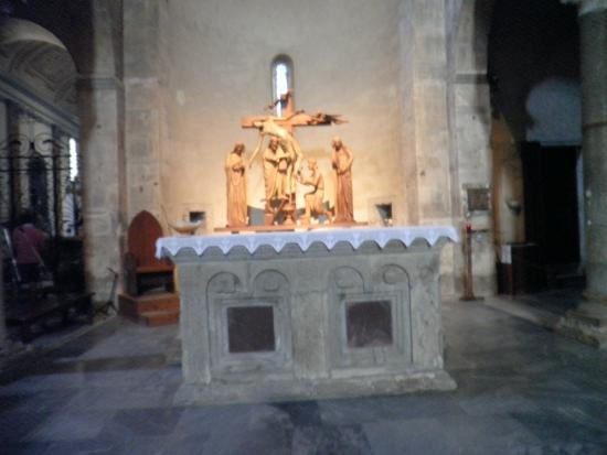 Vicopisano, Italie : Deposizione in legno