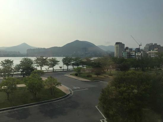 Samsung Hotel Geoje: View from the front of the hotel