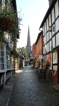 The Feathers Hotel: Street in Ledbury