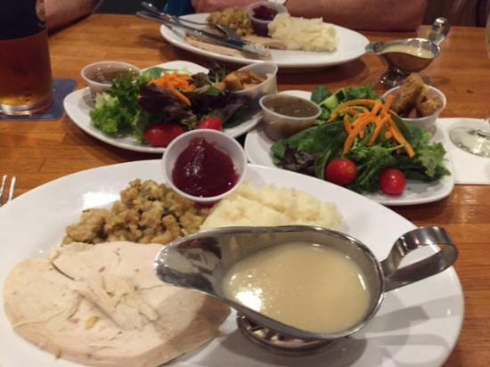 Brady's American Grill: One turkey dinner shared