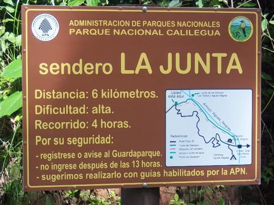 Calilegua, Argentina: Inicio del Sendero La Junta