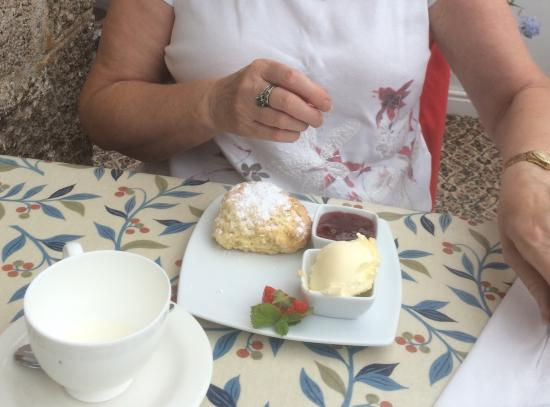 Bosavern House: Cream tea ( one scone not shown)